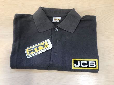 JCB Grey Polo Shirt
